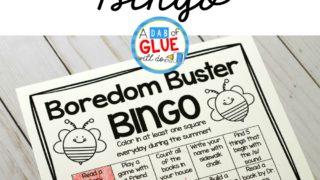 Boredom Buster Summer Bingo