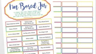 'I'm Bored Jar' with Printable Ideas