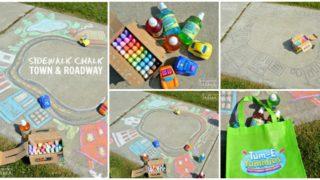 Sidewalk Chalk Art Town