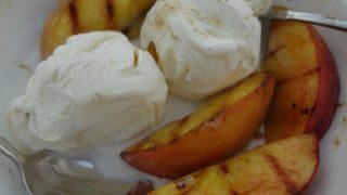 Grilled Peaches with Vanilla Ice Cream