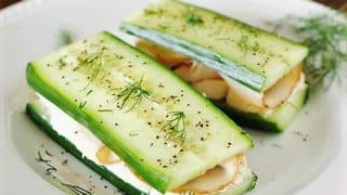 Smoked Turkey Cucumber Sandwiches