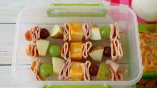 Turkey, Ham, Cheese, and Fruit Skewers