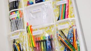 Over the Door School Supplies Organizer