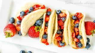 Peanut Butter and Jelly Tacos