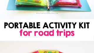 Portable Activity Travel Kit for Road Trips