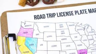 Road Trip Coloring Map