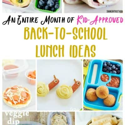 A Month of Kid-Approved Back-to-School Lunch Ideas