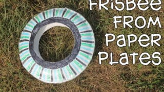 Frisbee made from Paper Plates