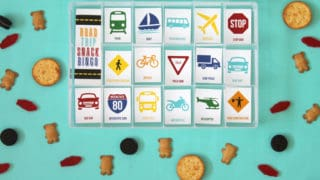 Road Trip Snack Bingo