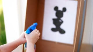 Spray Bottle Mickey Mouse Painting