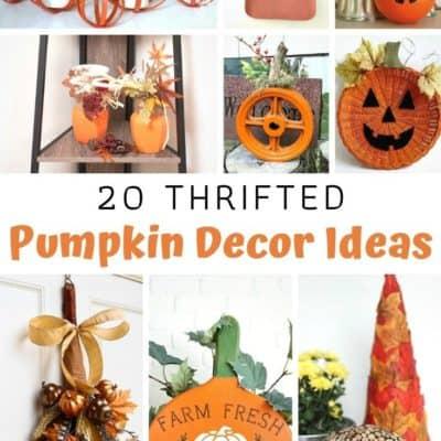 20 Thrifted Pumpkin Decor Ideas