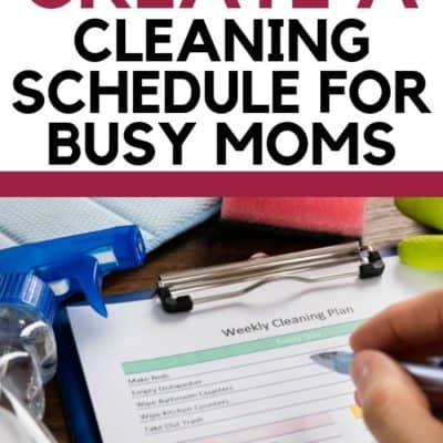 4 Tricks to Create a Cleaning Schedule for Busy Moms