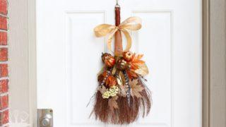 Rustic Fall Cinnamon Broom Wreath
