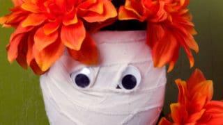 Dollar Store Mummy Vases
