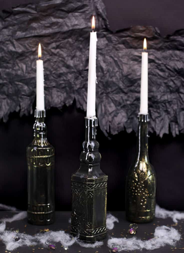 Dollar Store Halloween Candle Craft