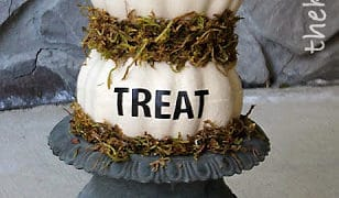 Dollar Store Pumpkin Topiary