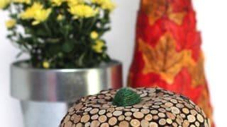 Wood Slice Dollar Store Pumpkin
