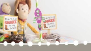 Buzz Lightyear Floats with Free Toy Story Party Printables