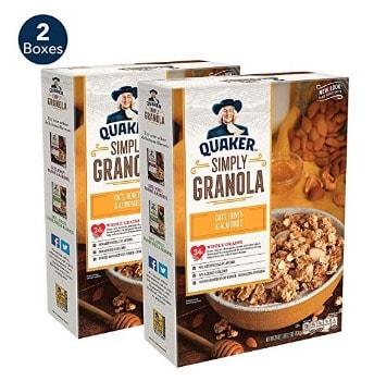 Quaker Simply Granola Oats, Honey & Almonds (2 pk.): $6.13 + FREE Shipping