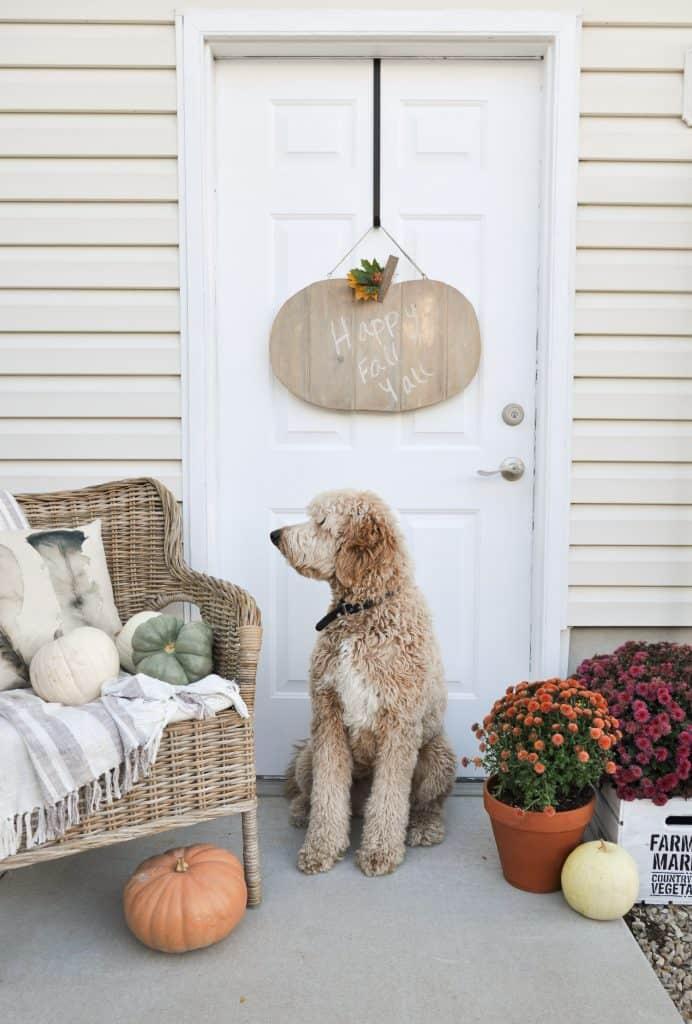 Rustic Pumpkin Door Hanger Tutorial