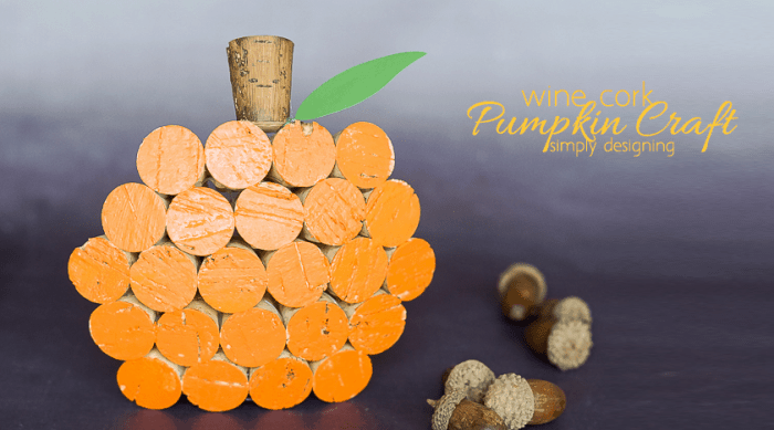 Wine Cork Pumpkin Decor