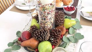 Easy DIY Fresh Fruit Fall Centerpiece