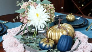 Farmhouse Glam Fall Centerpiece