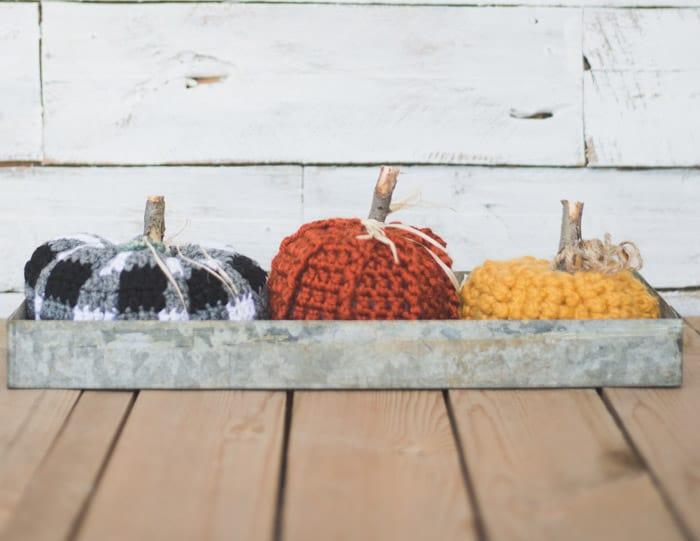 Rustic + Modern Free Crochet Pumpkin Pattern
