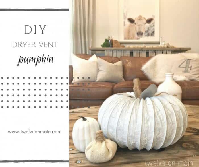 Make an Easy Dryer Vent Hose Pumpkin