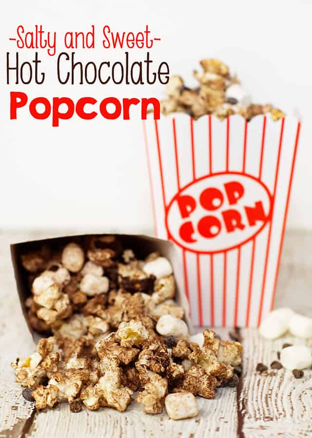 Salty and Sweet Hot Chocolate Popcorn