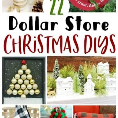 22 Dollar Store Christmas DIYs