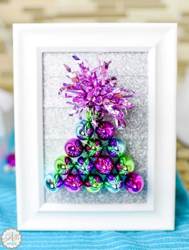 Colorful and Whimsical Dollar Store Christmas Tree Craft