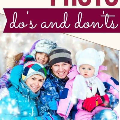 Family Photo Dos and Don'ts