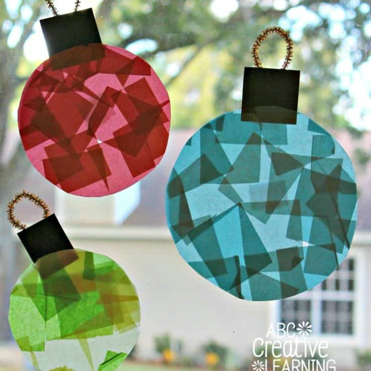 Glass Stained Window Ornaments