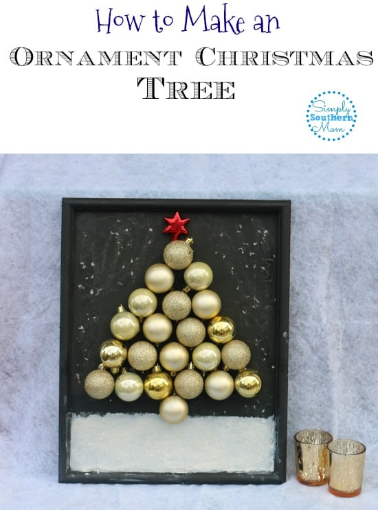 DIY Ornament Christmas Tree Picture