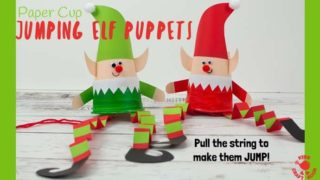 Jumping Paper Cup Elf Puppet