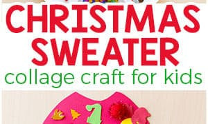 Christmas Sweater Collage Craft