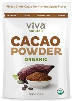 Viva Naturals Organic Cacao Powder: $5.51 + FREE Shipping