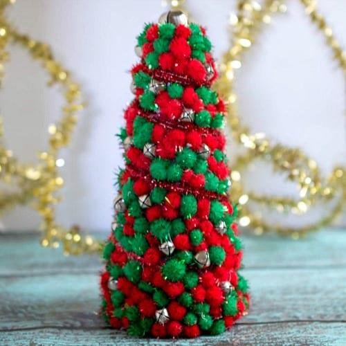 DIY Dollar Store Christmas Tree Centerpiece