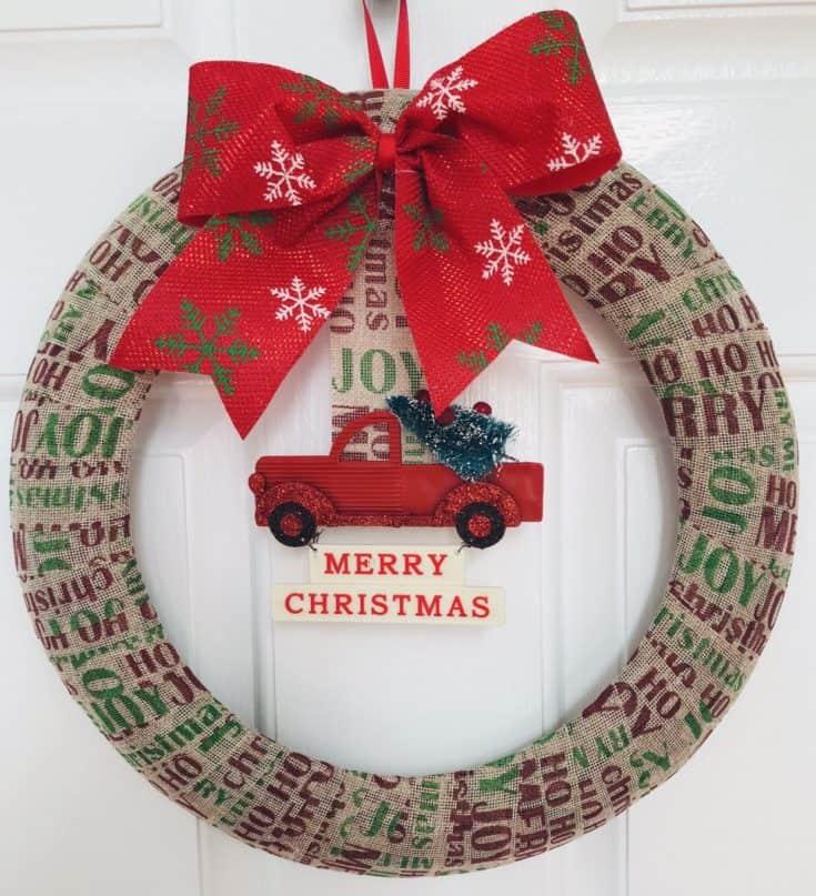 Simple Dollar Tree Christmas Wreath