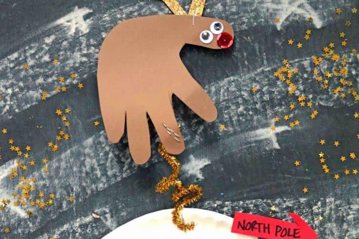Paper Flying Reindeer