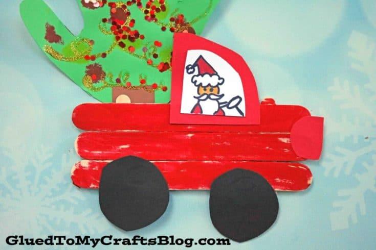 Popsicle Stick Christmas Trucks
