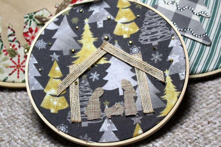 Embroidery Hoop Nativity Scene That's No Sew