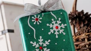 Make a Glittery Snowflake Ornament for Christmas