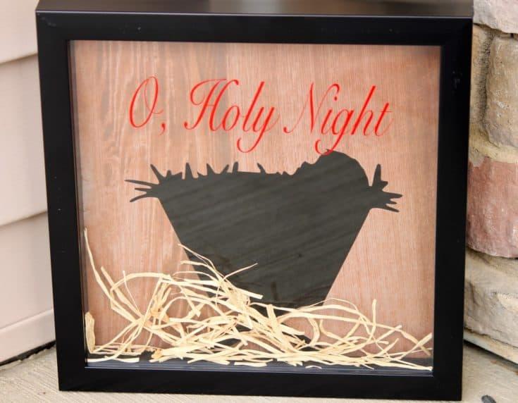 DIY Nativity Shadowboxes
