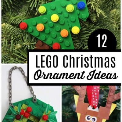 12 Christmas Ornament Ideas Made from LEGO's