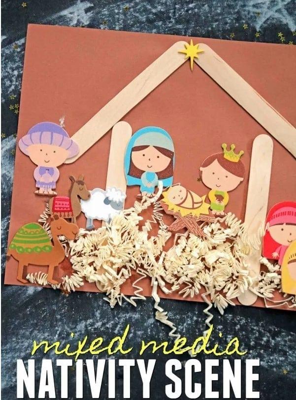 Mixed Media Nativity Scene