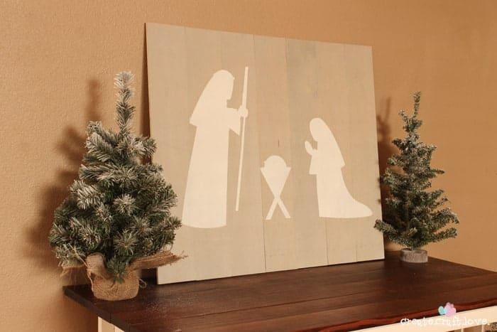 Nativity Pallet Art