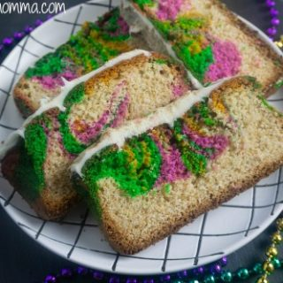 Mardi Gras Cinnamon Loaf Cake Recipe