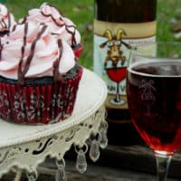 Chocolate Red Wine Cupcakes with Red Wine Frosting